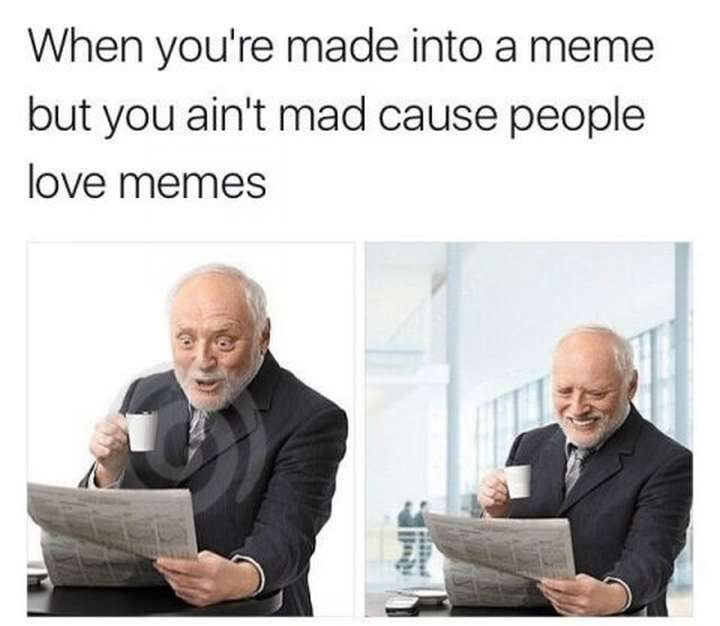 When you're made into a meme but people ain't mad cause people love memes
